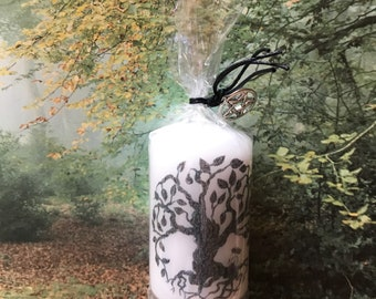 Tree of Life Altar Candle Wiccan Witchcraft Pagan Travel Ritual