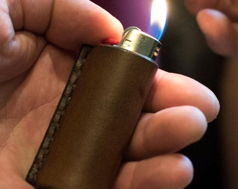 Leather Lighter Case - Bic Lighter Cover - Monogram Available