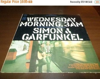 Save 30% Today Vintage 1966 LP Record Simon and Garfunkel Wednesday Morning 3AM 3389