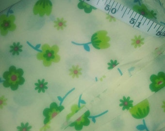 Green tulips quilt fabric