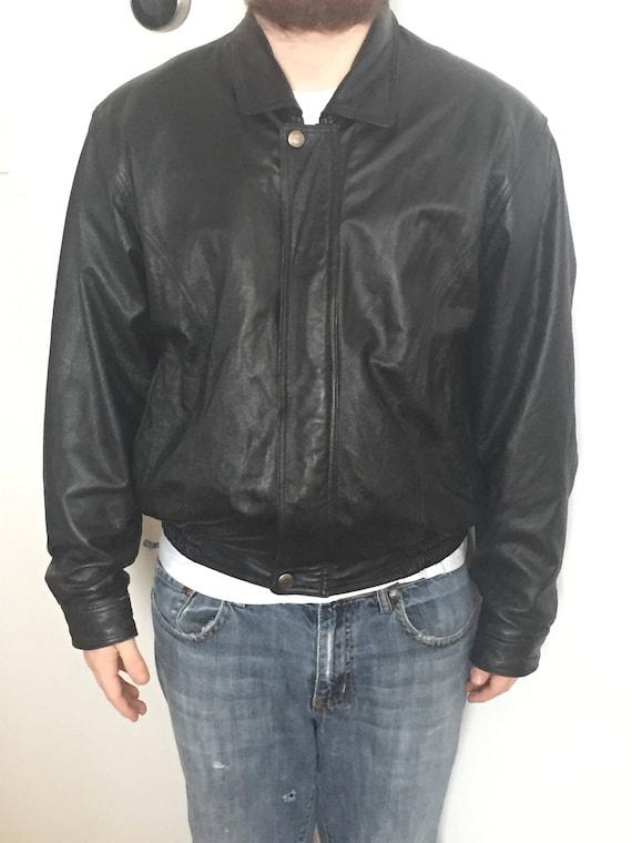 ANGELA LITRICO ALCW black Vintage Leather Jacket 3SUgpFLU