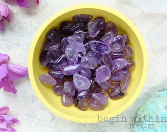 Tumbled Amethyst Crystal | Polished Amethyst Gemstone | Meditation Crystals