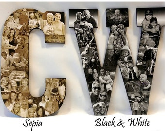 Black and White Photography, Sepia Photography, Color Photo Gift, Color Splash Photo Gift, Photomontage, Photocollage by Picket Fence Crafts