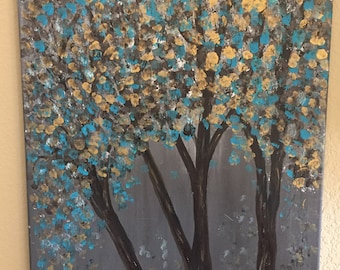 Golden Blue Trees