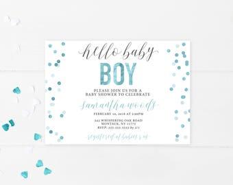 Baby Shower Invitation, Baby Shower Invitation Printable, Baby Shower, Printable Baby Shower Invitation, Baby Shower Invites for Boys [711]
