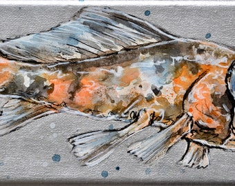 Orginal Kunstwerk // Unikat // Shubunkin // Goldfisch // handgefertigt // Geschenk für Sie // Geschenk für Ihn