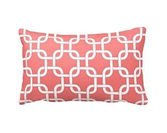 Decorative Pillows for Couch Pillows Throw Pillow Cover Coral Pillows for Sofa Pillows for Bed Coral Lumbar Pillow Sham Coral Bedroom Decor