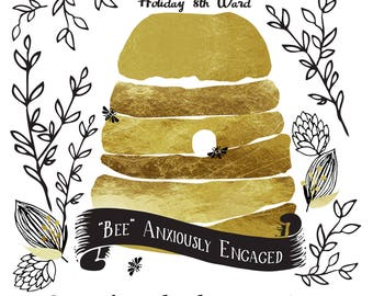 Relief Society Birthday Invite {BEE Anxiously Engaged}