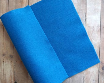 Glacial Blue Acrylic Felt Sheets or Circles, High Quality, Made in USA, Blue Felt, 5 9x12 Sheets or 30 Pack of 1 inch Circles, Quick Ship