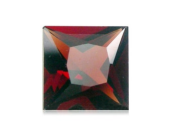 6.75-7.49 Cts of 11 mm AAA Square Princess Cut Mozambique Garnet ( 1 pc ) Loose Gemstone-396260
