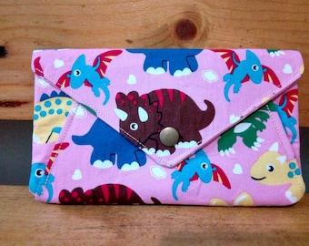 Envelope Cash Wallet,Dinosaur Cash Wallet For Kid,Pink Envelope Wallet,Pink Wallet For Girls