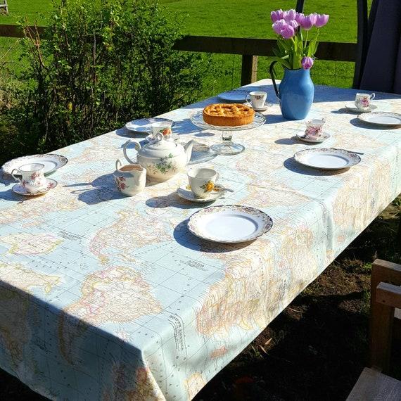 Custom size table cloth tablecloth world map fabric atlas gumiabroncs Choice Image