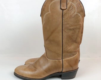Vintage Brand New Light Brown Western Cowboy Boots
