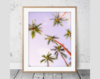 Palm Tree Print #2 Tropical Print Wall Art Palm Trees Print Palm Print Coastal Art Botanical Poster Palm Photography Instant Download 114b