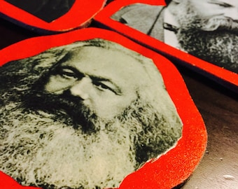 SALE!!! Social Activist Coasters 3 Big and Colorful Minds!
