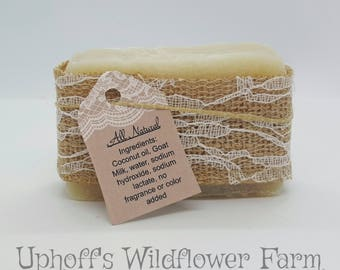 All Natural Goat Milk Soap and Shampoo Bar Made With Coconut Oil goats milk fragrance free
