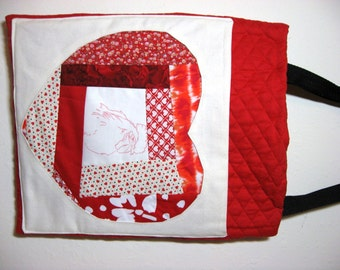A Roo for You - Patchwork Chicken Tote Bag
