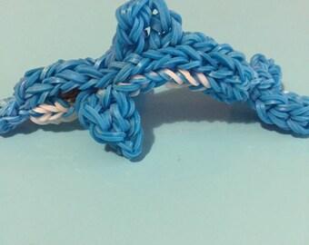 Rainbow Loom door keys/elastics 3D Dolphin figurine