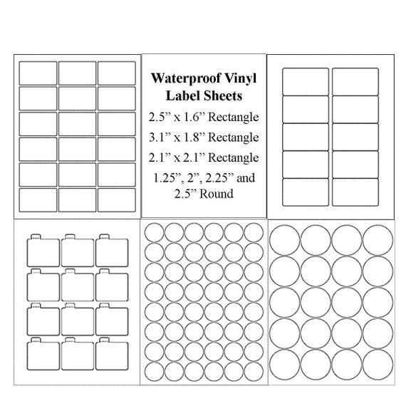 Blank Label Sheets Waterproof Labels Vinyl Labels Jar