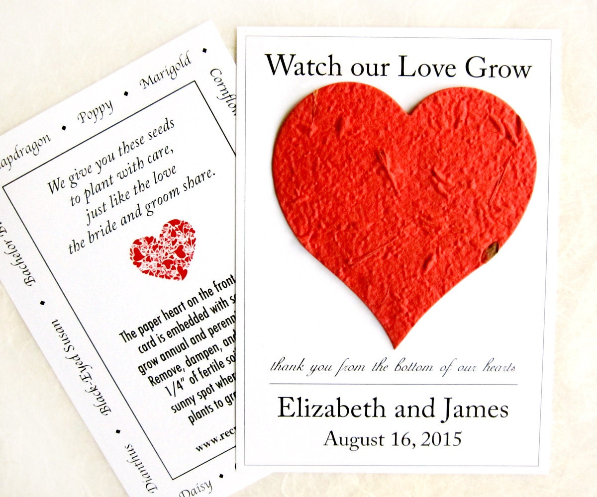 100 Watch Our Love Grow Seed Wedding Favors Flower Seed