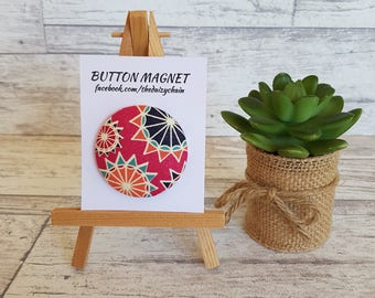 Large Fabric Magnet - Fridge Magnets - Office Magnets - office decor - whiteboard magnet - memo holder - Scarlet Collection