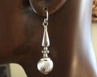 Sterling Silver Bead Styles in Dangle Earrings by Kate Drew-Wilkinson No2.