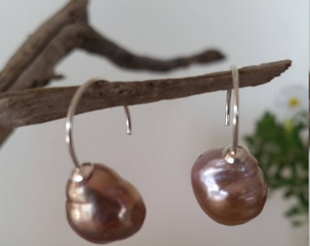 Bronze Baroque Pearl Earrings