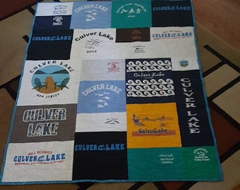 Custom T-Shirt Quilt - Made to order- FREE SHIPPING