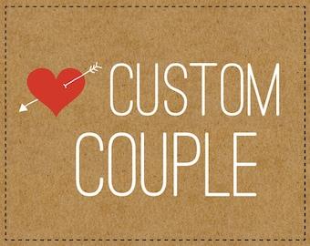 Custom Brooch Couple