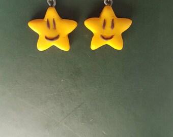Smiling stars earrings