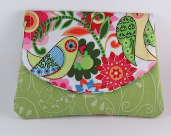 Women's Fabric Wallet, Fabric Women's Wallet, Fabric Credit Card Holder/Organizer, Business Card Holder, Holiday Gift Idea for Her Under 20