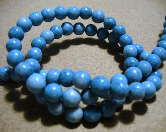 Jasper Beads Gemstone Medium Blue 6MM
