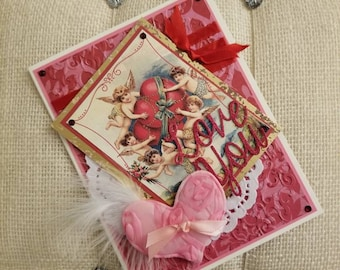 Victorian Valentine's Day Card/ Vintage Valentine's Day Card