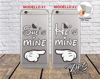 Case cover Case Soft couple Best friends She's mine He's mine
