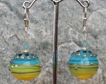 In Bloom OOAK Lampwork Earrings