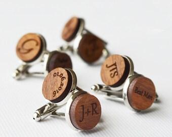 Custom Cufflinks Wedding Cufflinks Groom Cufflinks Father Of The Bride Mens Cufflinks Personalize Cufflinks Wood Cufflinks