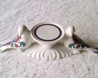 Elizabeth Arden Byzantium Dove Love Bird Perfume Stand Candle Holder