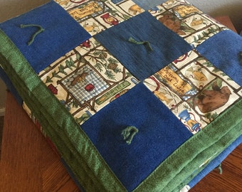 Handcrafted Cabin Jean Quilt - Twin