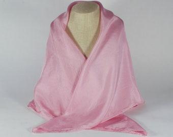 Tucson Cochineal Silk Scarf - 35x35 - Natural Dye