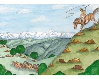 Man From Snowy River PRINT