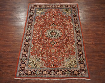 7X10 Persian Dorukhsh with Abrash Hand-Knotted Wool Area Rug Oriental Carpet (6.9 x 10.5)