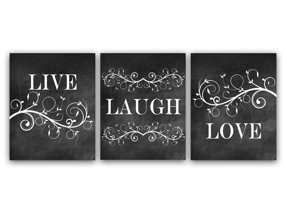 Attractive Home Decor Wall Art Live Laugh Love Art Chalkboard Wall Art