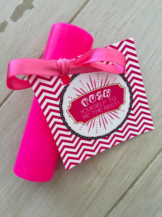 Team gifts good luck favor tags cheer gifts push pop tags te gusta este artculo solutioingenieria Choice Image