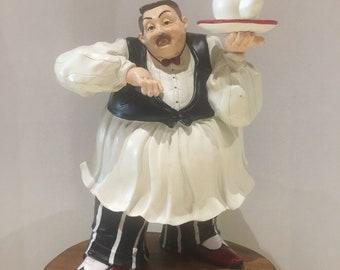 Jumbo kitchen chef, waiter, very large Chef / waiter, serving tea. Very good condition
