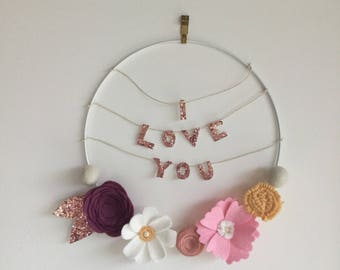 Customizable message/name baby/child room wall decor