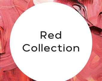 """Handmade statement stud earrings // gifts for her // """"Red Collection"""""""