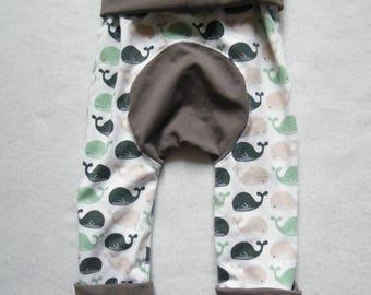 Pants evolutionary whale / beige