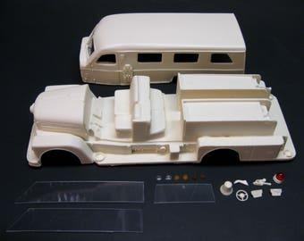 1/25 scale model resin 1958 Seagrave Sedan Safety Pumper fire truck conversion kit