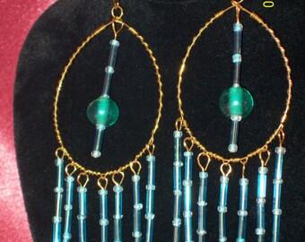 Teal Appeal Large Dangle Earrings