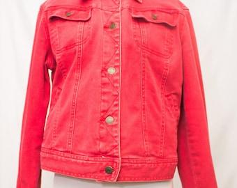 Soft Red Denim Jean Jacket by Ralph Lauren.